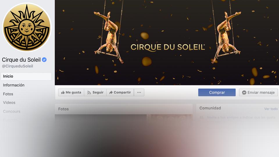 imagen de banner de portada perfecta de facebook cirque du solei