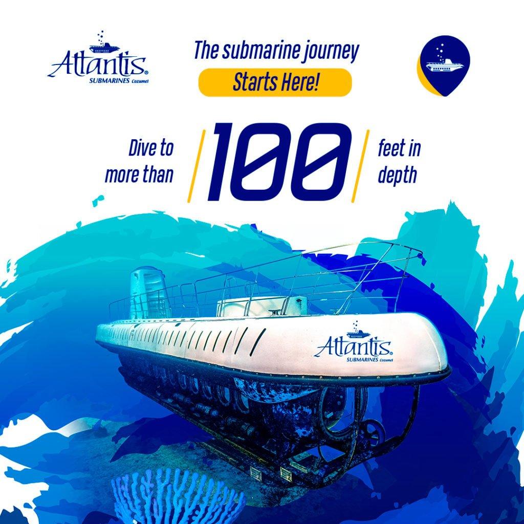 ejemplo de publicidad de paga en facebook para atlantis submarines cozumel