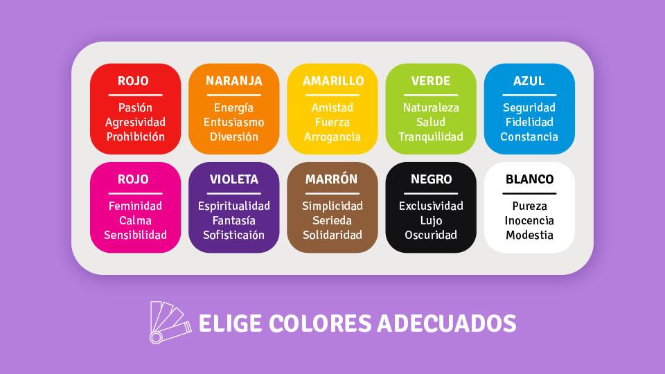 Ideas de como usar los colores en redes sociales